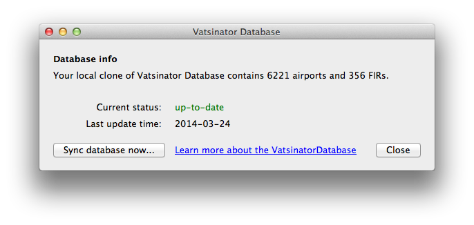 Vatsinator Database integration